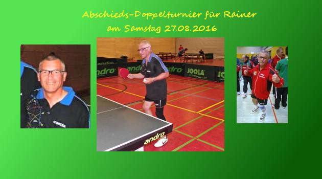 Abschieds-Doppelturnier für Rainer
