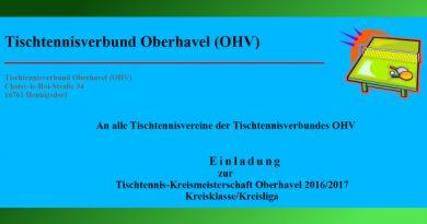 Kreismeisterschaft Oberhavel 2016