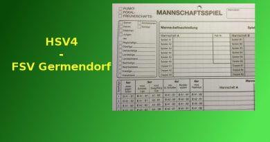 Mit starker Mannschaftsleistung bezwingt der HSV 4 Germendorf mit 10:5