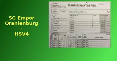 SG Empor Oranienburg – HSV4 (Kreisliga)