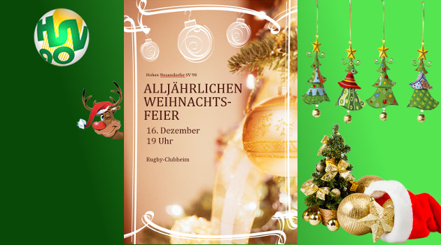 Artikel Weihnachtsfeier.Weihnachtsfeier 2016 Hohen Neuendorfer Sv 90