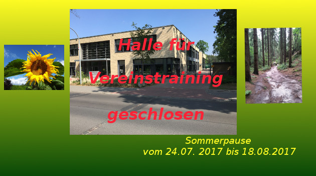 Sommerpause 2017